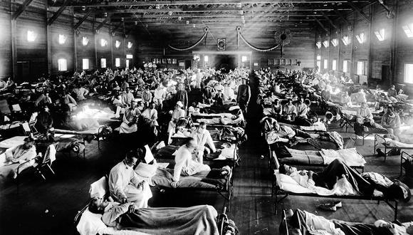 NCP 1603 - Emergency hospital during influenza epidemic, Camp Funston, Kansas.
