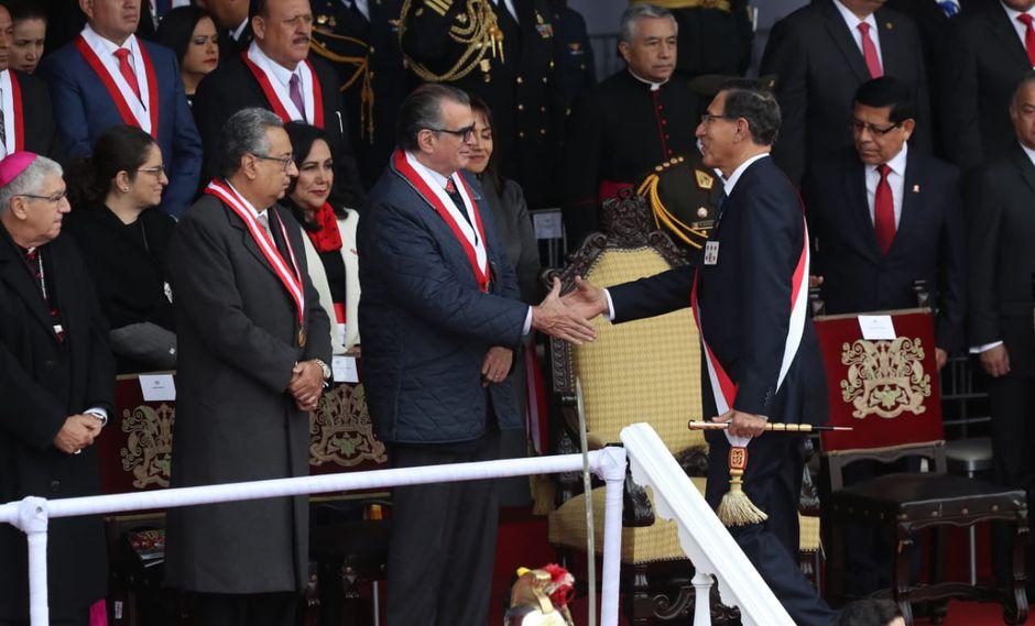 El presidente Martín Vizcarra dijo que la reunión con Pedro Olaechea será en Palacio de Gobierno. (Foto: Rolly Reyna)