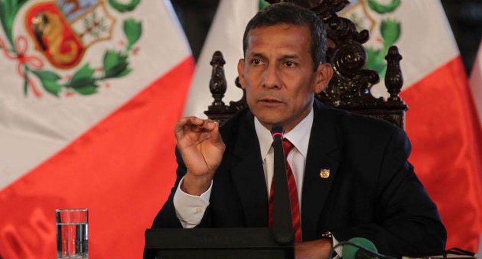 Ollanta Humala conversó con la prensa extranjera. (EFE)
