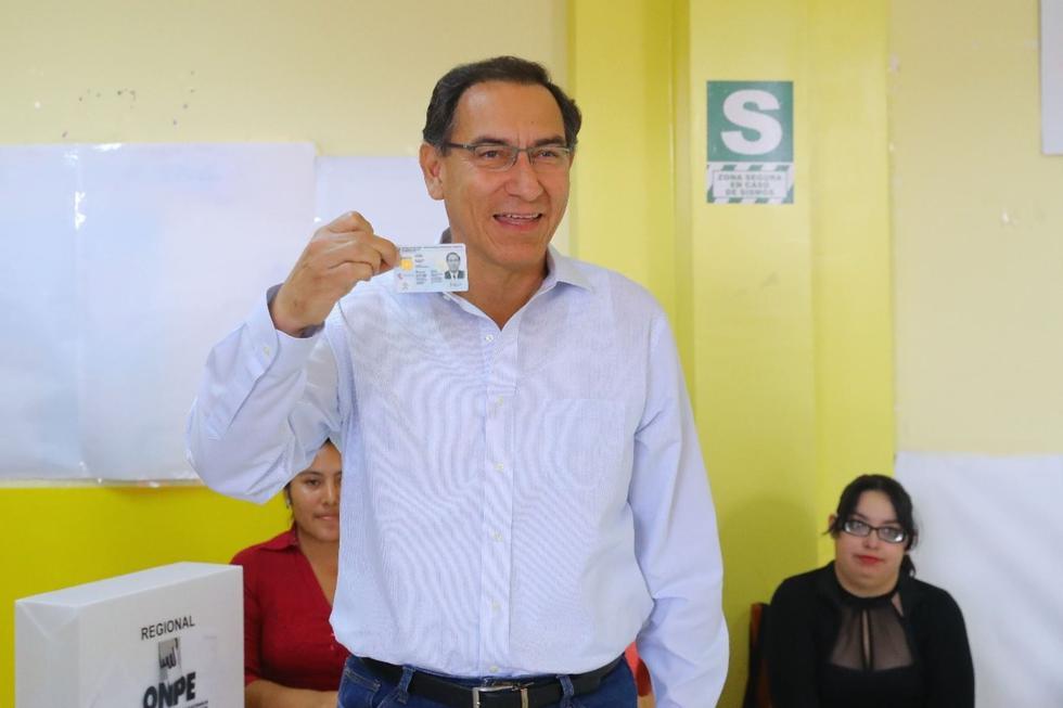 Martín Vizcarra en las Elecciones Municipales y Regionales 2018. (Difusión)