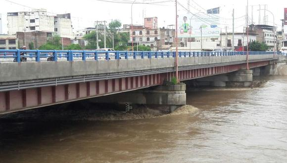 Caudal del río Tumbes llegó a los mil 200 metros cúbicos por segundo, reportó COEN. (Jorge Merino)