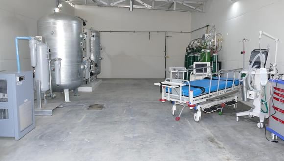 Lambayeque: el equipo suministrará de oxígeno a las camas de la Unidad de Cuidados Críticos (UCI) para pacientes COVID-19. (Foto: Gore Lambayeque)