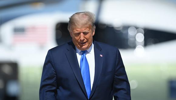 """Trump reconoció que siente mucha """"presión"""" para ganar los comicios, en un momento en el que las encuestas dan una ventaja de unos 10 puntos a Biden a nivel nacional. (Foto: Brendan SMIALOWSK / AFP)"""