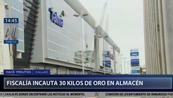 El decomiso del oro lo efectuó el fiscal Hamilton Castro en el aeropuerto Jorge Chávez. (Canal N)