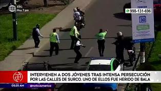 Surco: Policías intervienen a dos sujetos tras intensa persecución
