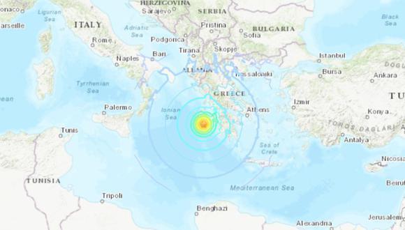Terremoto magnitud 7,0 sacude costas griegas. | Foto: USGS