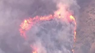 Cerca de 90.000 evacuados de localidad cerca de Los Ángeles por nuevo incendio forestal