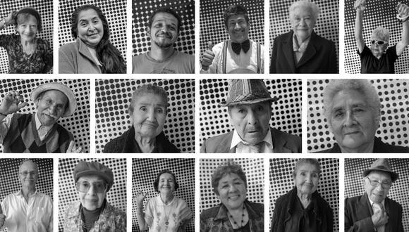 Algunos de los retratos que forman parte de la exposición. (Inside Out Barrios Altos)