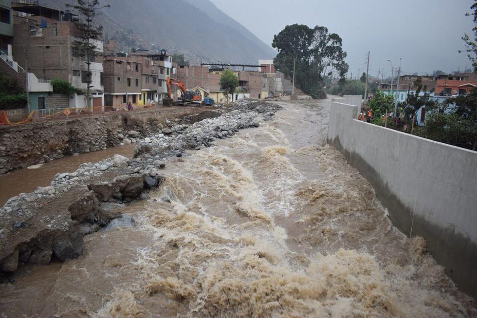 Aumento del caudal del río Rimac genera alarma en los vecinos de Chosica. (Pedro Pacheco)