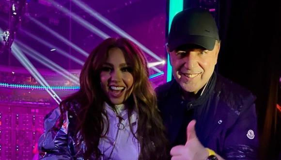 La cantante mexicana Thalía y el ejecutivo musical estadounidense Tommy Mottola mantienen una sólida relación. ( Foto: @tommymottola)