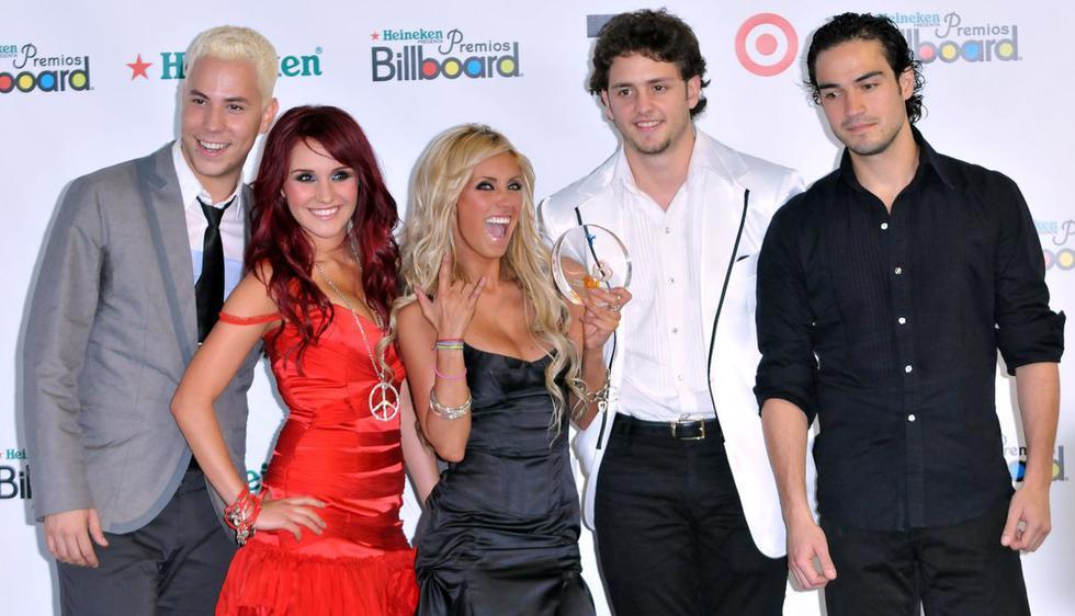 Estos son algunos de los ex integrantes de 'Rebelde'. (Foto: Getty Images)