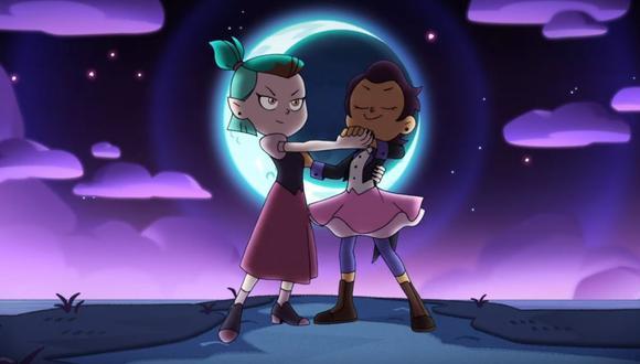 """""""The Owl House"""" presenta a la protagonista """"Luz"""" como una aprendiz de bruja que se siente atraída por una de sus compañeras. (Captura de pantalla / YouTube)."""