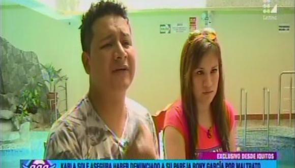 Karla Solf negó nuevamente haber sido agredida por Ronny García. (Latina)