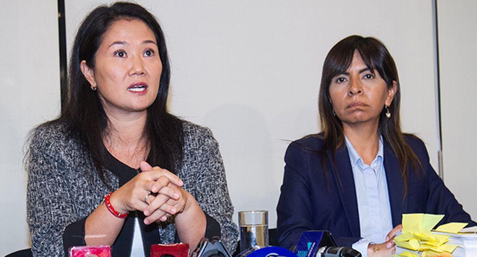 Giulliana Loza dejó en claro que de Keiko Fujimori ni Fuerza Popular ha nacido ningún acto de violencia contra el fiscal José Domingo Pérez. (Foto: GEC)