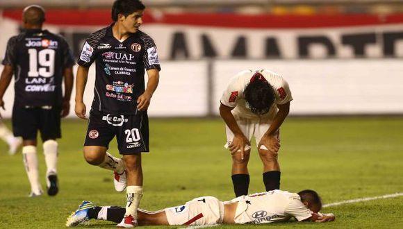 Rainer Torres ingresó en el segundo tiempo y tuvo una clara chance de marcar, pero falló frente a Ferreira. (Rafael Cornejo)