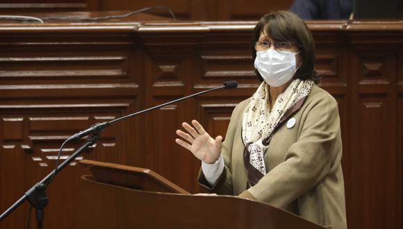 Mazzetti se presentó este jueves ante el Pleno del Congreso junto al resto del Gabinete Ministerial. (Foto: Congreso)