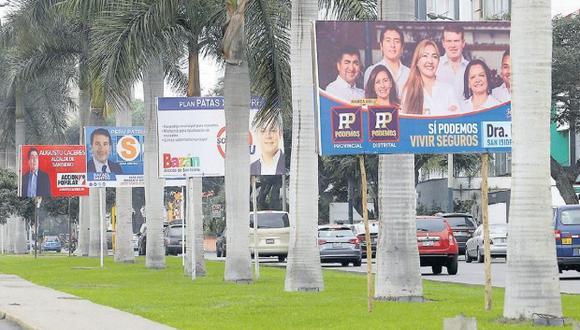 Candidatos deberán retirar propaganda electoral según la Ley Orgánica de Elecciones. (USI)