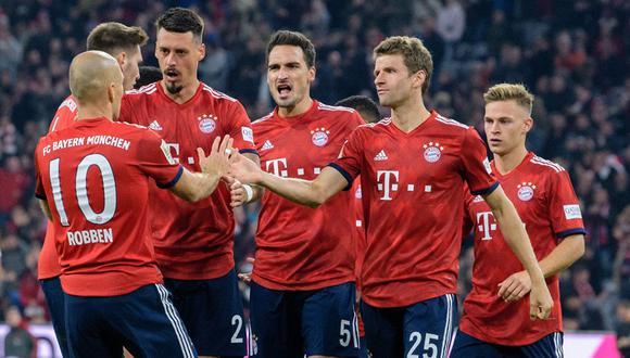 Bayern Munich perdió la racha de triunfos consecutivos al empatar la fecha anterior. (Foto: AFP)