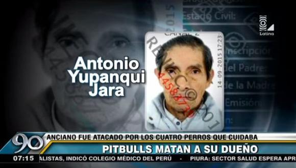 Anciano murió tras ser atacado salvajemente por los 4 perros que cuidaba en San Juan de Lurigancho. (Captura de TV)