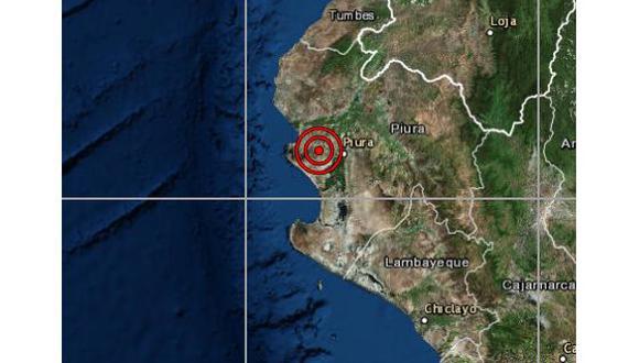 De acuerdo con el IGP, el epicentro de este movimiento telúrico se ubicó a 26 kilómetros al oeste de Piura. (Foto: IGP)