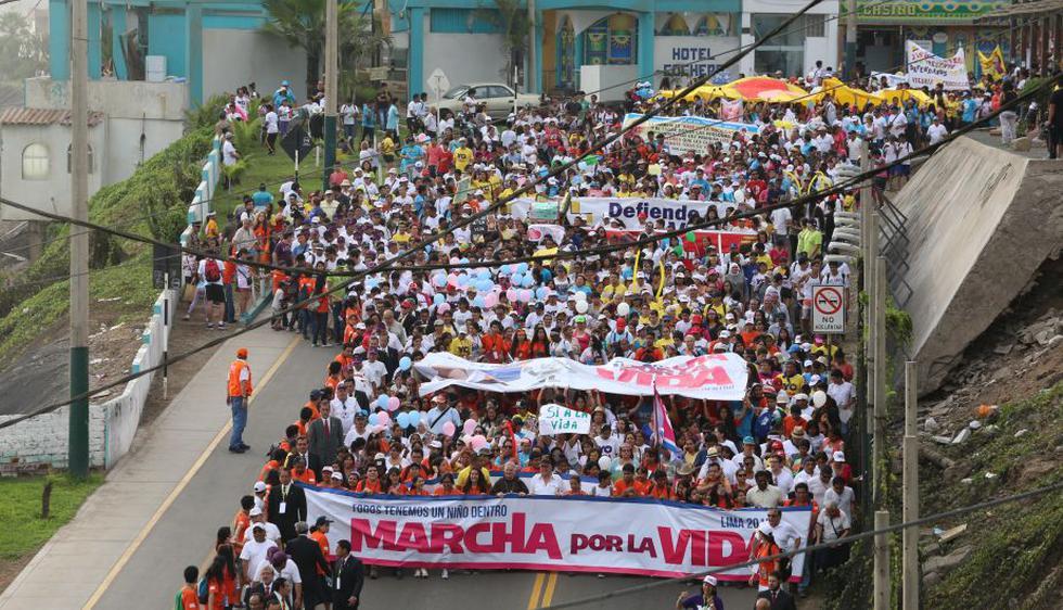 'Marcha por la vida' finalizó en el Circuito de Playas. ('Allen Quintana)