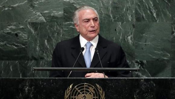 Michel Temer, presidente de Brasil, expuso ante la Asamblea General de la ONU