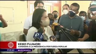 "Keiko Fujimori: ""Agradezco el respaldo de Mario Vargas Llosa"""