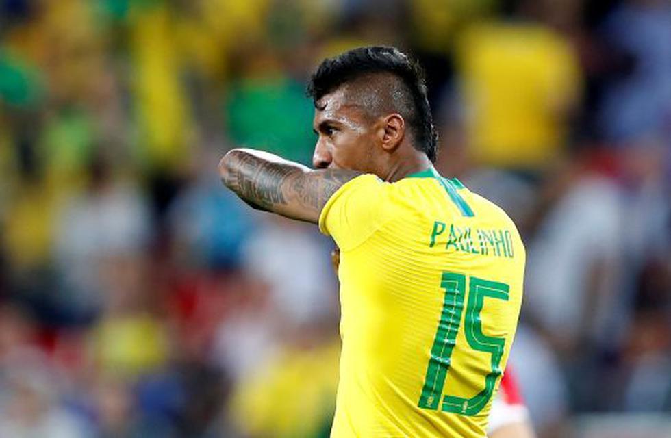 Paulinho (35') anotó la ventaja brasileña. (AFP)