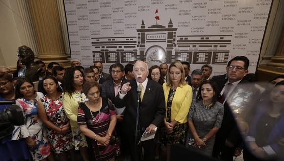 Por este hecho, Fuerza Popular decidió abandonar el hemiciclo del Parlamento. (Foto: Anthony Niño De Guzmán / GEC)