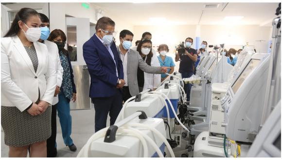 La Libertad: La directora del citado nosocomio, Rosa Hernández Bracamonte, agradeció la apuesta del Gore por invertir en los servicios de salud. (Foto: Difusión)