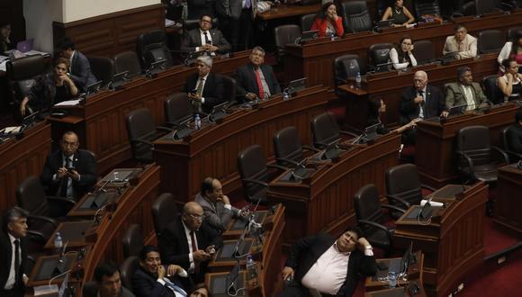 Sin mayoría. Renuncias de congresistas le pasan factura a FP. (Renzo Salazar/GEC)