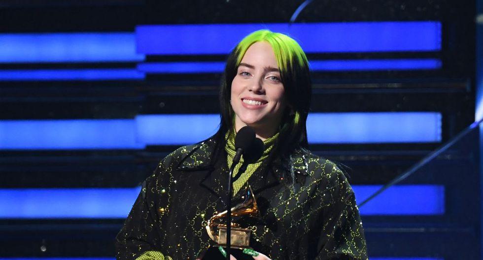 Billie Eilish hace historia en los Grammy 2020 (Photo by Robyn Beck / AFP)