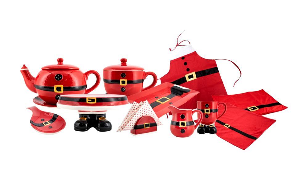 Elementos de mesa tonos neutros y rojos.(Foto: Difusión)