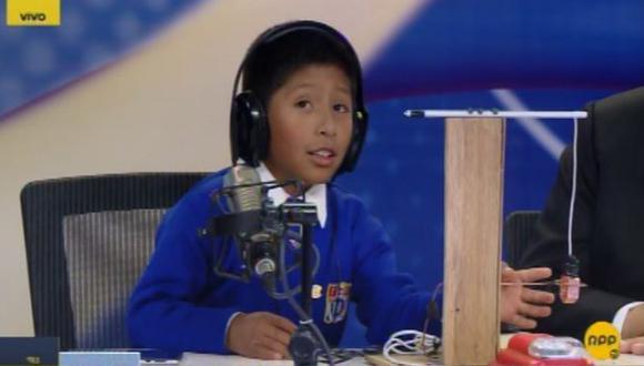 Mateo Huamán, niño inventor