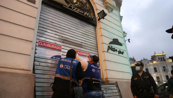 Municipalidad de Lima impuso una multa de S/8.600 a local de Pizza Hut. (Foto: Municipalidad de Lima)