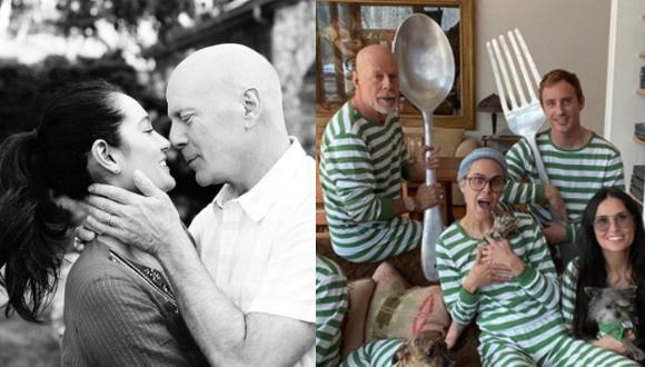 Bruce Willis vive el aislamiento social junto a Demi y sus hijas, lejos de su actual pareja, Emma Heming (Foto: Instagram)