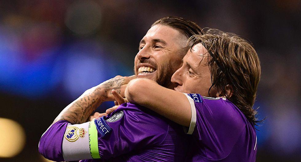 Sergio Ramos quiere que su amigo Luka Modric gane el premio The Best. (Foto: AFP)