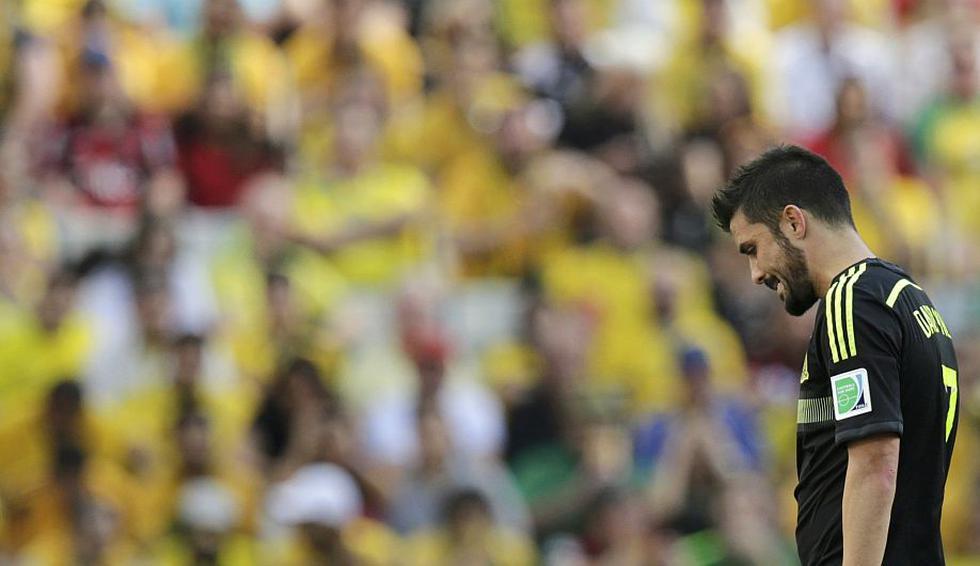 A sus 33 años, el delantero David Villa jugó el que sería su último partido con la selección española. (Reuters)