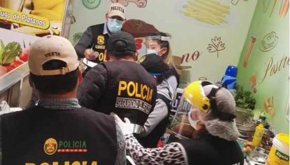 Intervienen local que usaba embutidos vencidos para preparar hamburguesas (Foto: Diresa Junín).