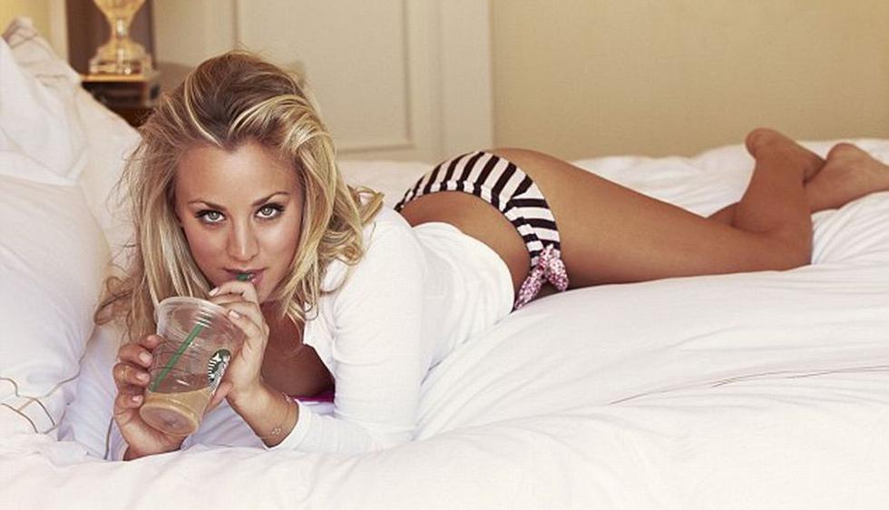 Kaley Cuoco, protagonista de la serie The Big Bang Theory, se destapó para la revista FHM. (Corbis)