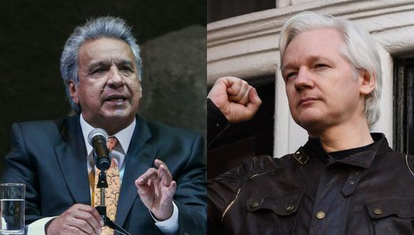 """""""No podemos permitirnos en nuestra casa, la casa que abrió sus puertas, convertirnos en un centro de espionaje"""", declaró Lenín Moreno sobre la expulsión de Assange. (Foto: AFP)"""