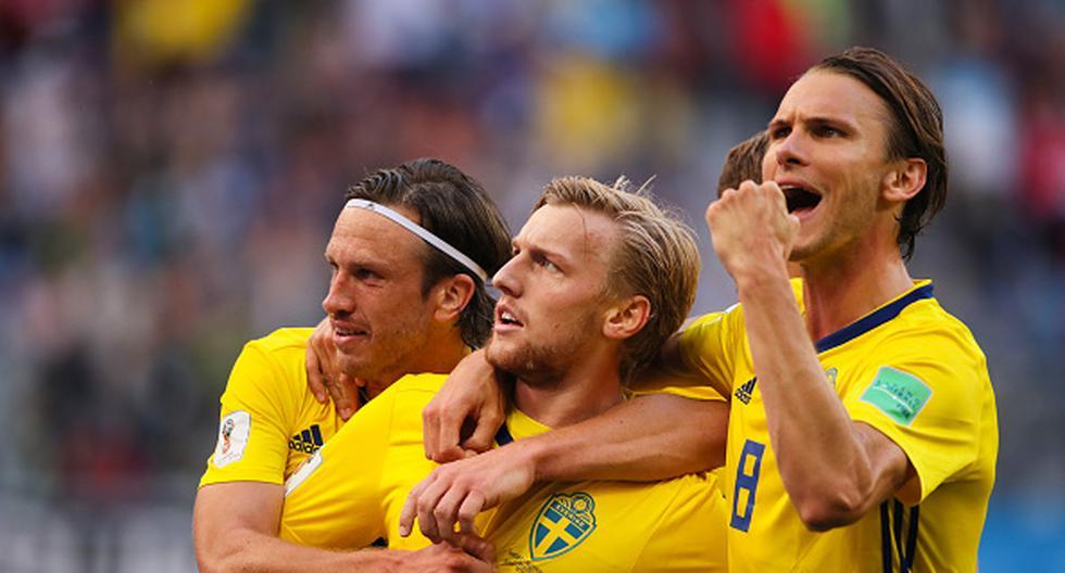 Suecia enfrentará a Colombia o Inglaterra en los cuartos de final de la Copa del Mundo. (GETTY)