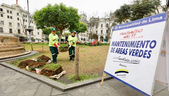 La comuna ha iniciado los trabajos de mantenimiento tras la huelga de maestros. (Municipalidad de Lima)