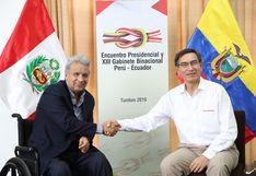 Martín Vizcarra y Lenín Moreno suscribieron declaración conjunta tras XIII Gabinete Binacional entre Perú y Ecuador