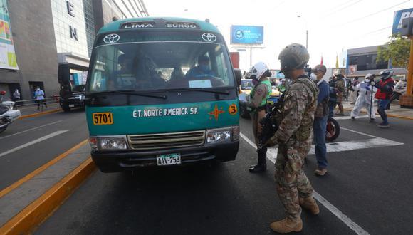 Necesario. Protocolo busca evitar que buses sigan siendo focos de transmisión del COVID-19. (GEC/Gonzalo Córdova)