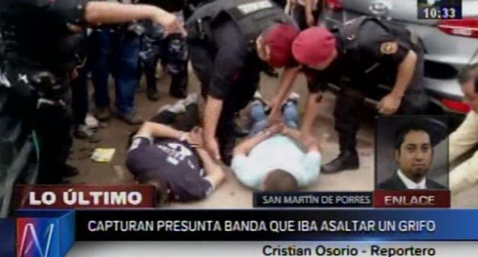 Los Olivos: Policía frustró robo en grifo y capturó a dos delincuentes. (Canal N)