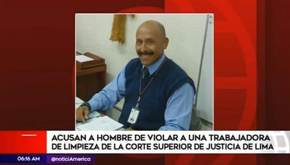 La víctima denunció que la agresión se produjo en el séptimo piso del edificio de la Corte Superior de Justicia de Lima. (Captura: América Noticias)