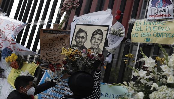 Inti Sotelo y Bryan Pintado muerieron tras recibir varios impactos de perdigones durante la marcha nacional del pasado 14 de noviembre. (Foto: César Campos/GEC)