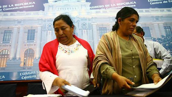 Las exlegisladoras Sumire y Huancahuari tenían los sueldos más altos: S/.6,541 mensuales. (Perú21)