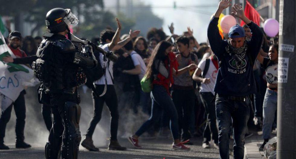 Colombia: Disturbios en la última protesta estudiantil del año en Bogotá(Foto: Reuters).